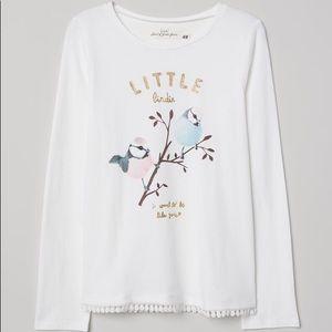 NWT H&M L.O.G.G. Long Sleeve Shirt Top 2-4Y